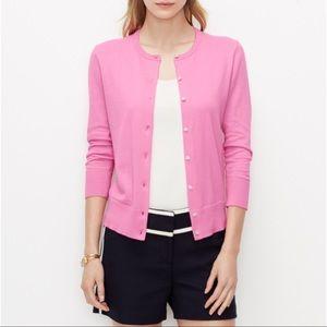 Ann Taylor 3/4 Sleeve Pink Cardigan